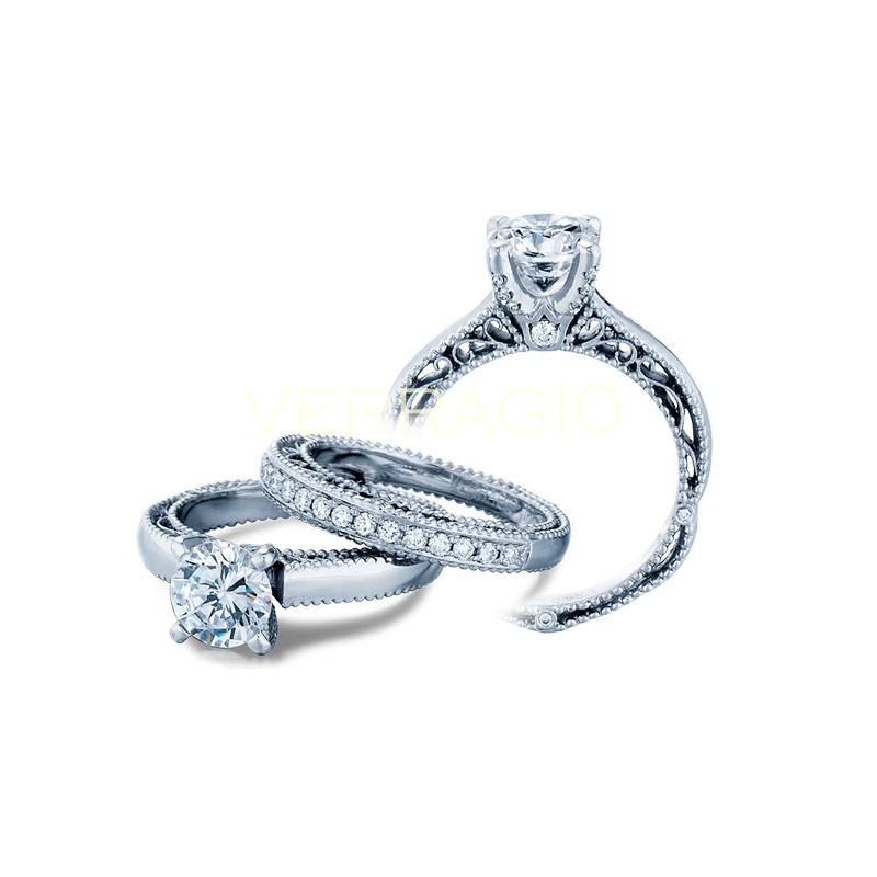 Verragio Milgrain Diamond Engagement Ring