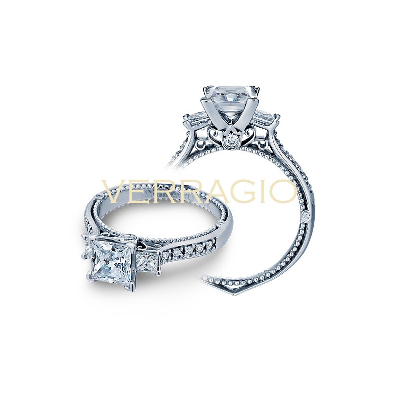 Verragio Three-Stone Diamond Engagement Ring