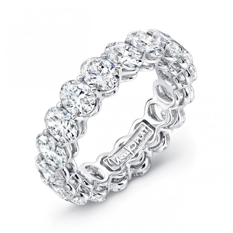 353a3042a653a2 Uneek Platinum Oval Cut Diamond Eternity Band - ETOV400