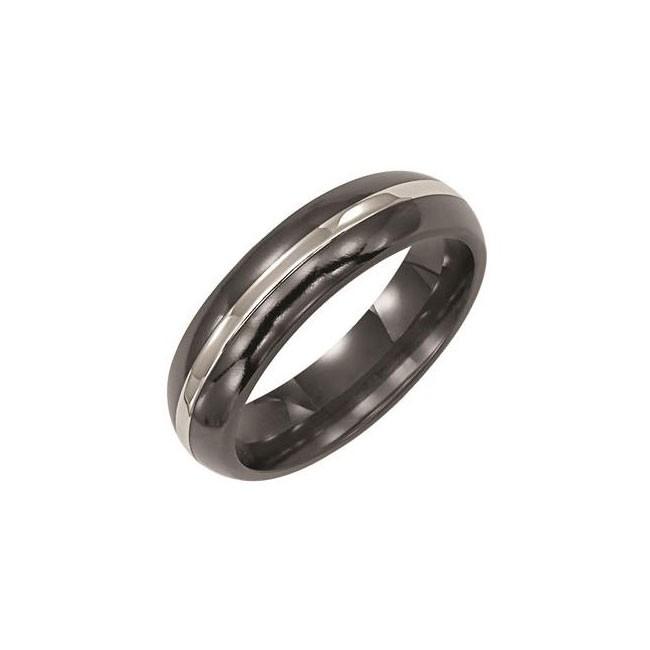 Triton Black Titanium Comfort Fit Domed Band 11-01-2029