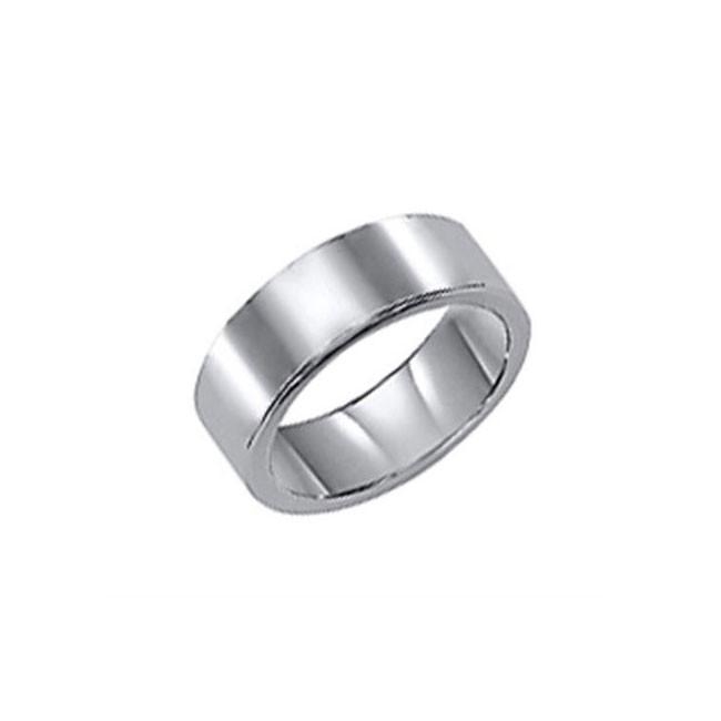 Triton 8mm Tungsten Carbide Bright Polish Comfort Fit Band 11-01-2142