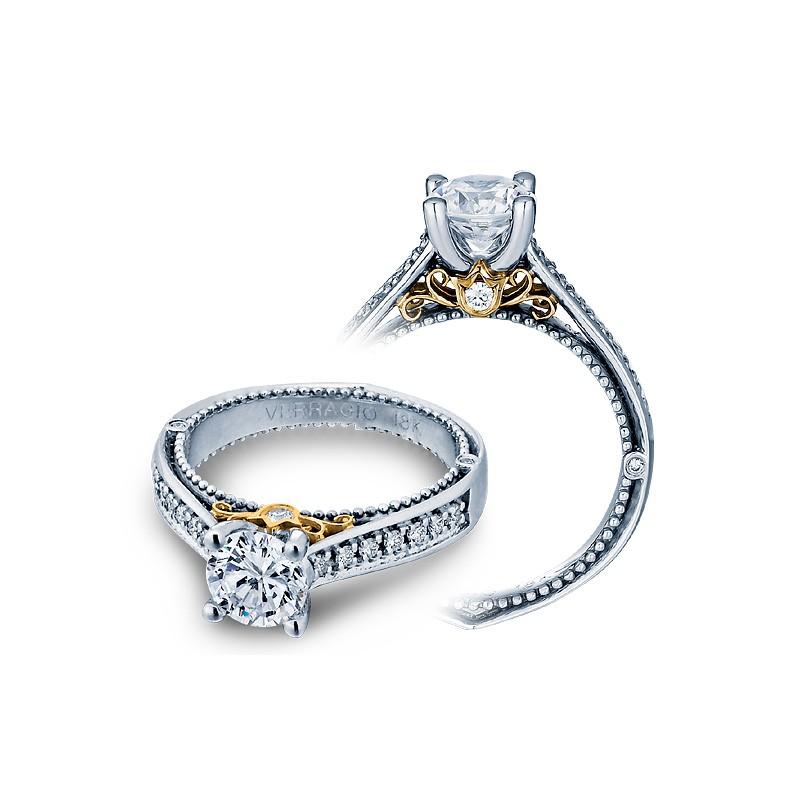 Verragio Two-Tone Pave Diamond Engagement Ring
