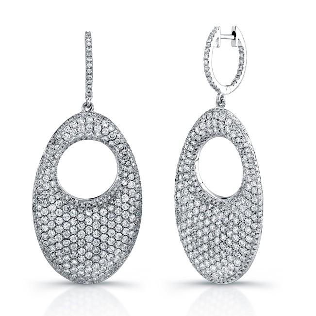 Uneek 18K White Gold Diamond Earrings E219