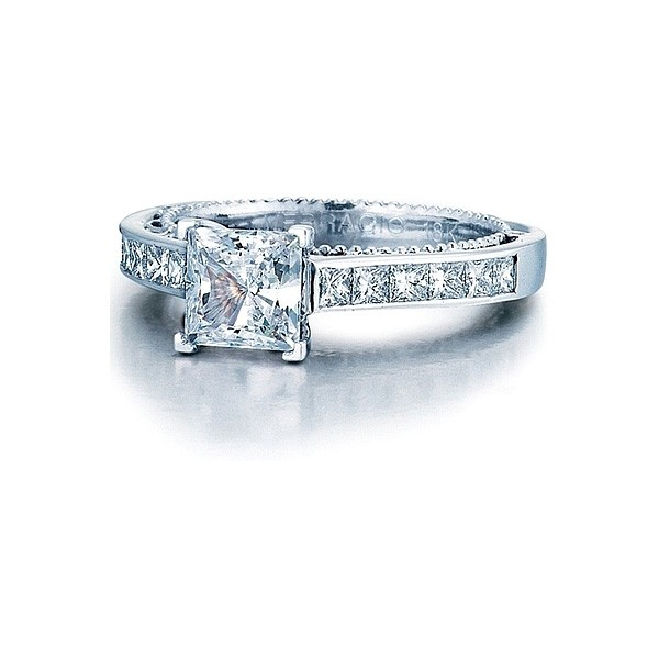 Verragio Princess Cut Channel Set Diamond Engagement Ring