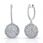 Uneek 18K White Gold Micro-Pave Diamond Earrings E217