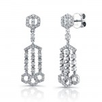 Uneek 18K White Gold and Diamond Earrings E237