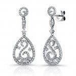 Uneek 18K White Gold and Diamond Earrings E240