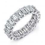 Uneek Platinum Emerald Cut Diamond Eternity Band-ETEC500