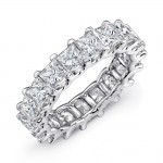Uneek Princess Cut Diamond Platinum Eternity Band-ETPC400