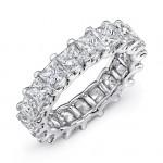 Uneek Platinum Princess Cut Diamond Eternity Band -ETPC600