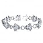 "The Uneek ""Geometry"" Diamond Bracelet, in Platinum"