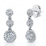 Uneek 18K White Gold Diamond Earrings LVE272