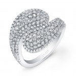 Bouquet Collection 14K White Gold Diamond Band LVR113
