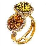 Lovely Zeghani Multi-stone Fashion Ring