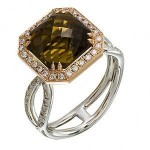 Beautiful Two-Tone Coniac Ring by Zeghani
