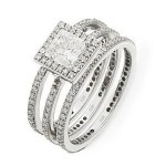 Stunning Diamond Wedding Set by Zeghani