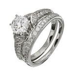 Gorgeous Diamond Wedding Set by Zeghani