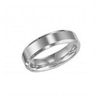 Triton 6mm White Tungsten Carbide Bright Polished Bevel Edge Comfort Fit Band 11-01-2325