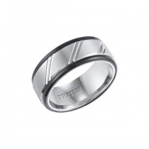 Triton Mixed Tungsten Carbide Comfort Fit Wedding Band 11-01-4146