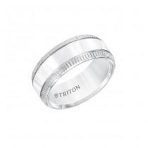 Triton Flat White Tungsten Carbide Band 11-01-5811