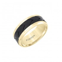 Triton Tungsten Carbide Comfort Fit Two Tone Men'S Band 11-5980-G