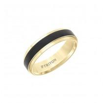 Triton Tungsten Carbide Comfort Fit Two Tone Men'S Band 11-5981-G