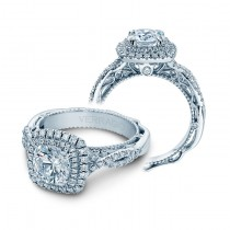 Verragio Double Halo Twist Engagement Ring