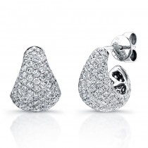 Uneek 18K White Gold Diamond Earrings E218