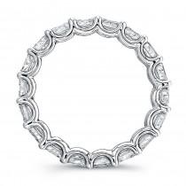Uneek Platinum Asscher Cut Diamond Eternity Band-ETAS400