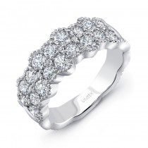"Uneek ""Picôt"" Diamond Band with Scalloped Edges, in 18K White Gold"