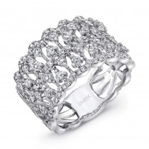 "Uneek ""Coralline"" Open Lace Diamond Band in 14K White Gold"