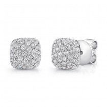 Petite Bouquet Collection 14K White Gold Diamond Earrings LVEJ01