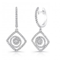 Petite Bouquet Collection 14K White Gold Diamond Earrings LVEJ02