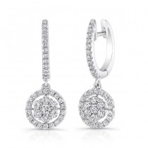 Petite Bouquet Collection 14K White Gold Diamond Earrings LVEJ03