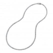 Uneek 18K Gold Cube Link Diamond Necklace LVN633