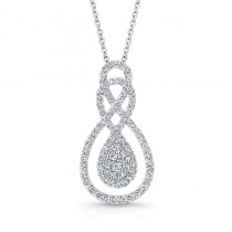Bouquet Collection Diamond and 14K White Gold Pendant LVN654