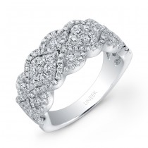 Bouquet Collection 14K White Gold Diamond Band LVR104