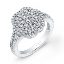 Bouquet Collection 14K White Gold Diamond Ring LVR112