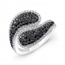 14K White Gold Black Diamond Ring LVR113BL