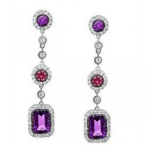 Stunning Designer Amethyst Earrings by Zeghani