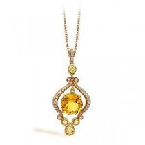 Exquisite Two-tone Zeghani Gemstone Pendant