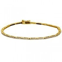 Elegant Zeghani Diamond Bracelet 14k Yellow Gold