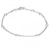 Alluring Zeghani 14k White Gold Diamond Bracelet