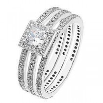 Alluring Zeghani Diamond Engagement Ring and Band Set