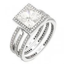 Lovely Diamond Wedding Set by Zeghani