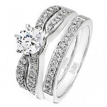 Dazzling Zeghani Diamond Engagement Ring and Band Set