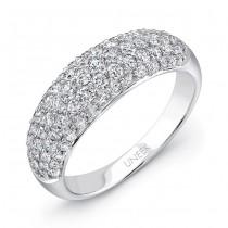 Uneek Pave Set Diamond Rose Gold Ring Small LVBW7108S