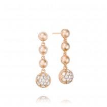 Cascading Drop Earrings featuring Pavé Diamonds SE206P