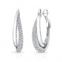 Uneek Hoop Diamond Earrings LVEW427W