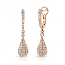 Uneek Rose Gold Dangle Diamond Earrings LVEW695R